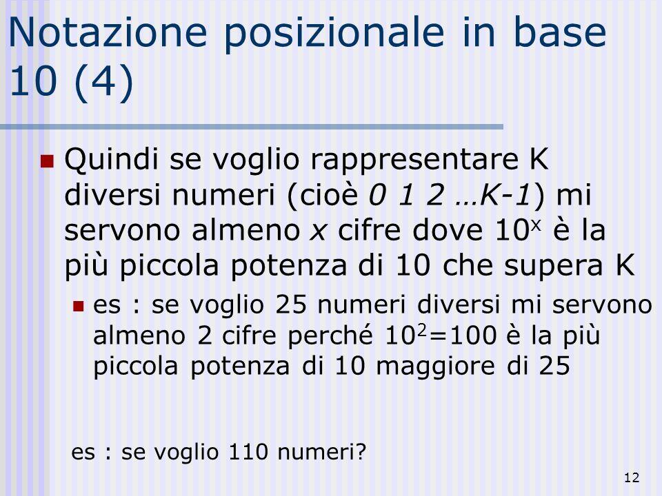Notazione posizionale in base 10 (4)