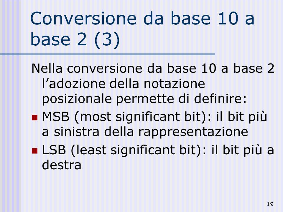 Conversione da base 10 a base 2 (3)