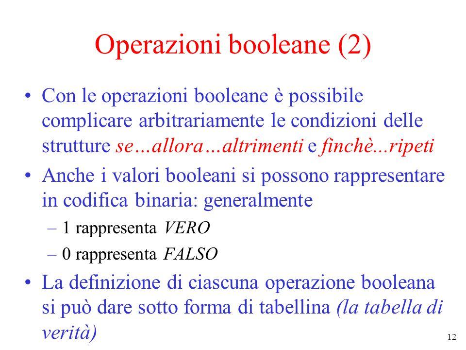 Operazioni booleane (2)