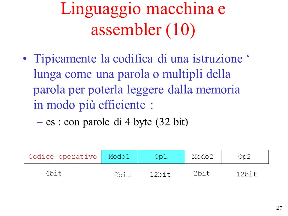 Linguaggio macchina e assembler (10)