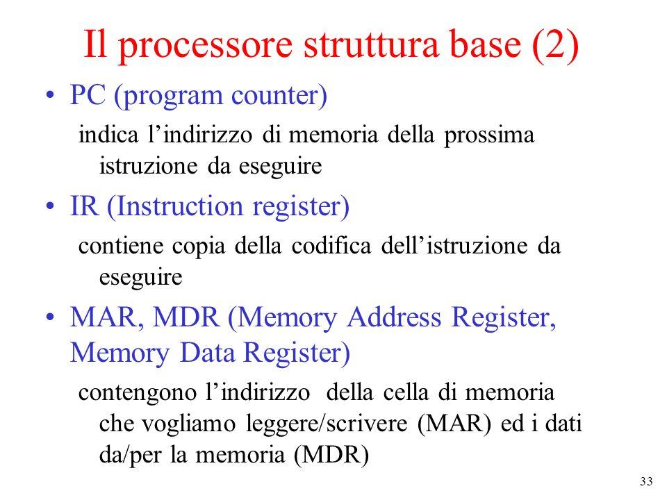 Il processore struttura base (2)