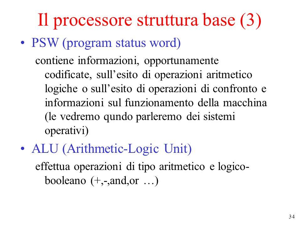 Il processore struttura base (3)