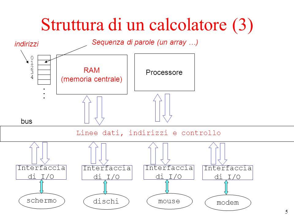 Struttura di un calcolatore (3)
