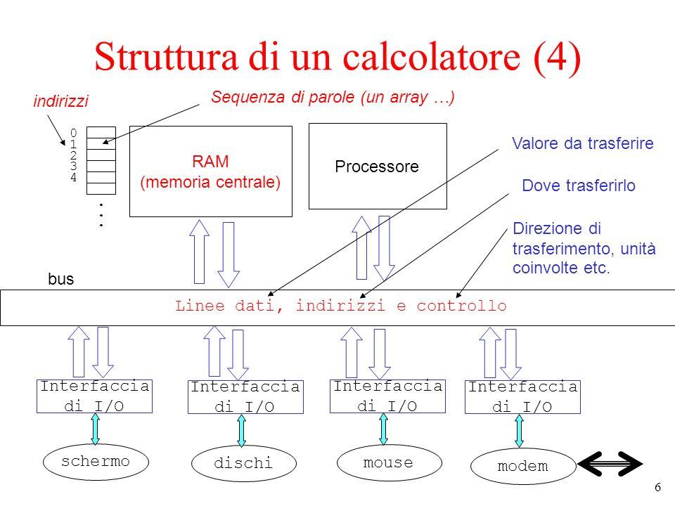 Struttura di un calcolatore (4)