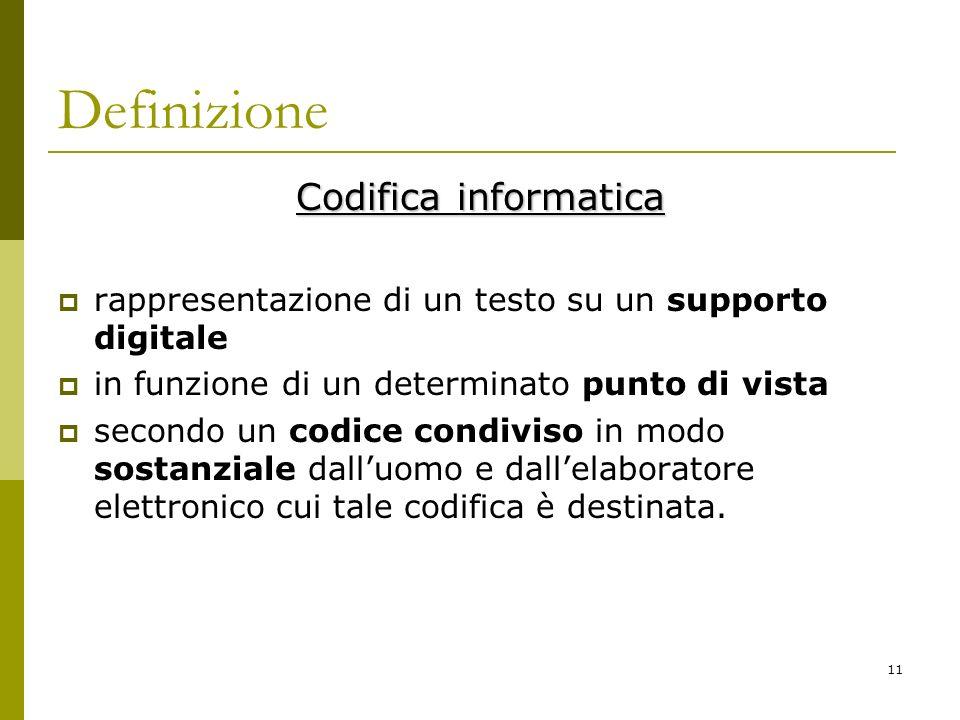 Definizione Codifica informatica