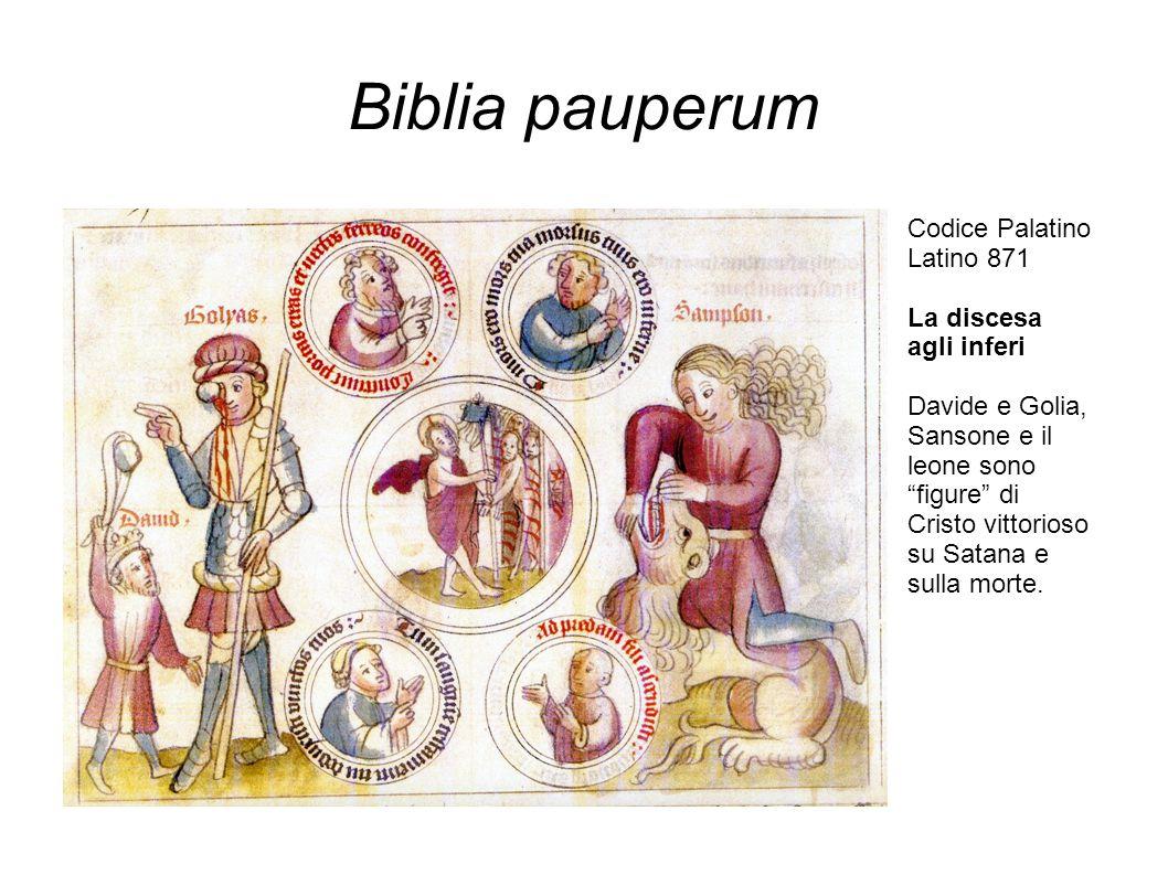 Biblia pauperum Codice Palatino Latino 871 La discesa agli inferi