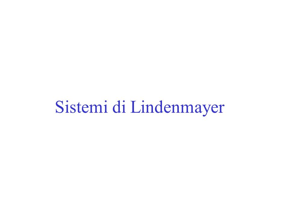 Sistemi di Lindenmayer