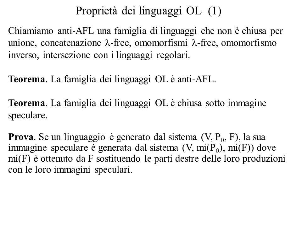Proprietà dei linguaggi OL (1)