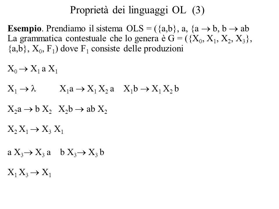 Proprietà dei linguaggi OL (3)