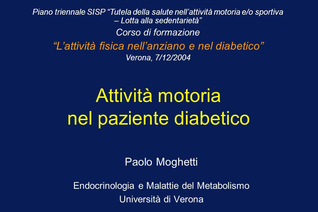 Attività motoria nel paziente diabetico