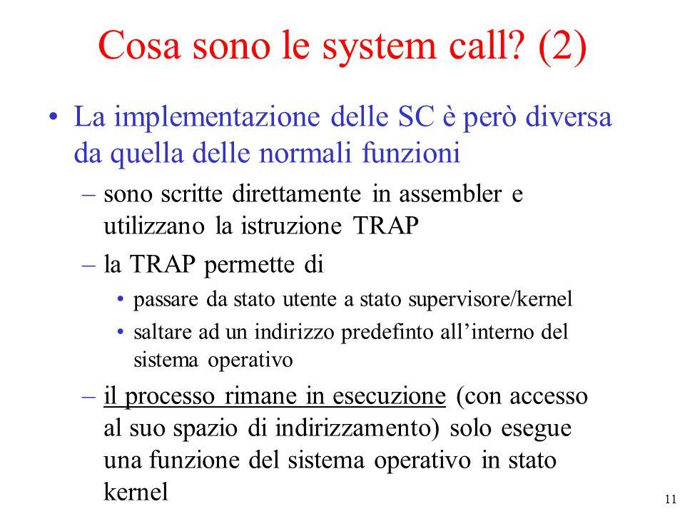 Cosa sono le system call (2)