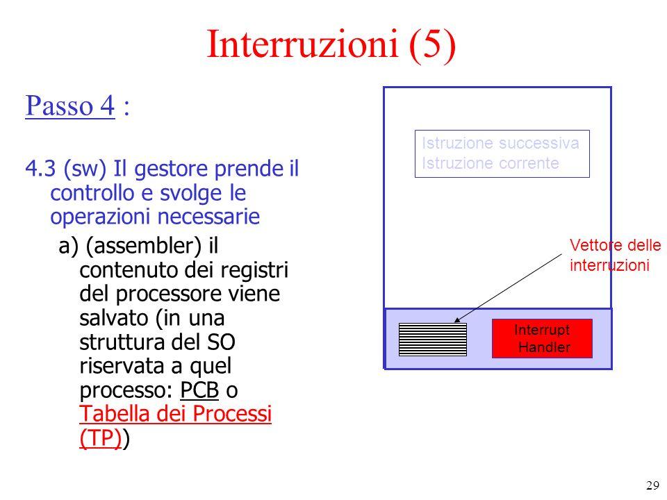 Interruzioni (5) Passo 4 :