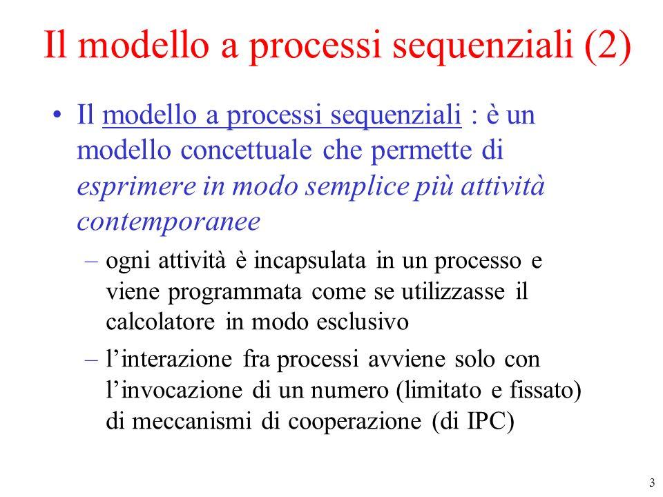 Il modello a processi sequenziali (2)