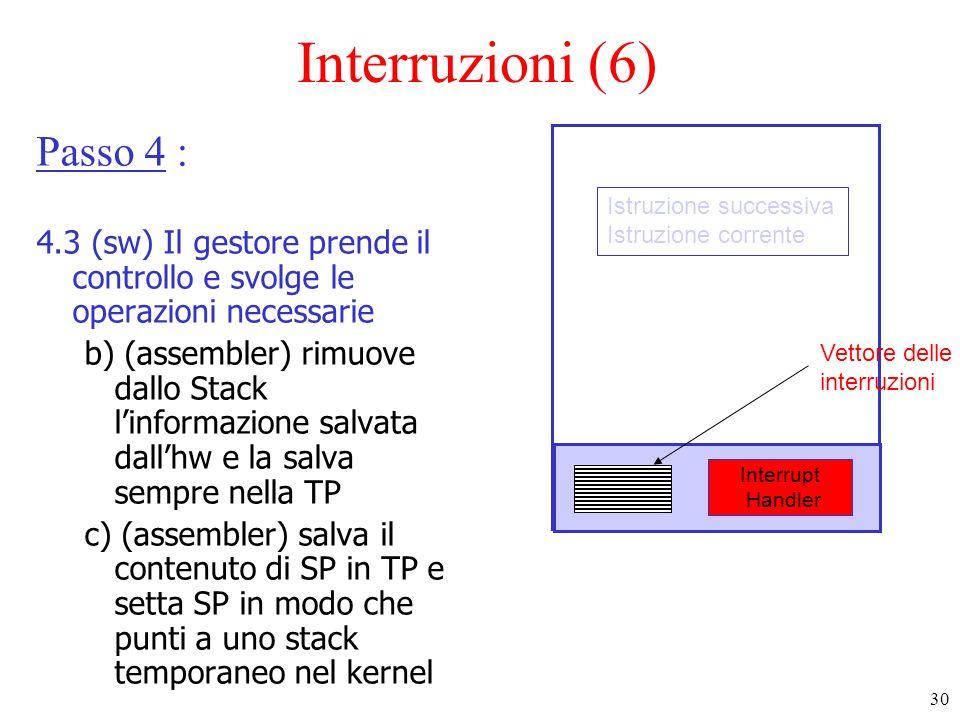 Interruzioni (6) Passo 4 :