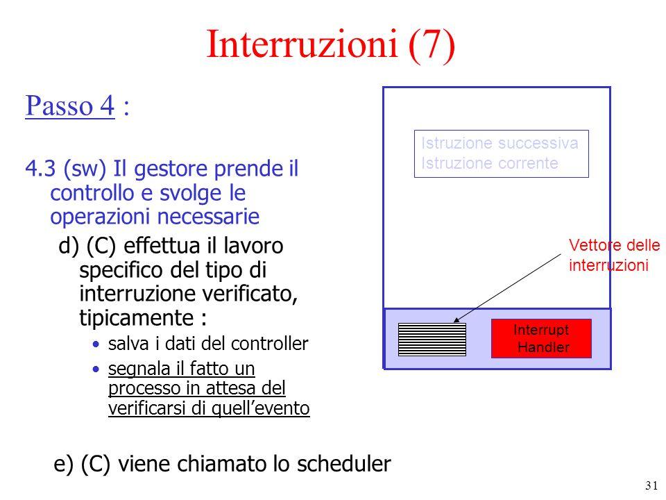 Interruzioni (7) Passo 4 :