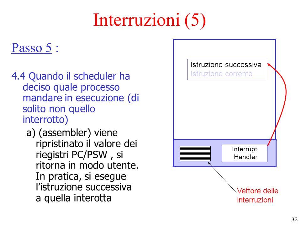 Interruzioni (5) Passo 5 :