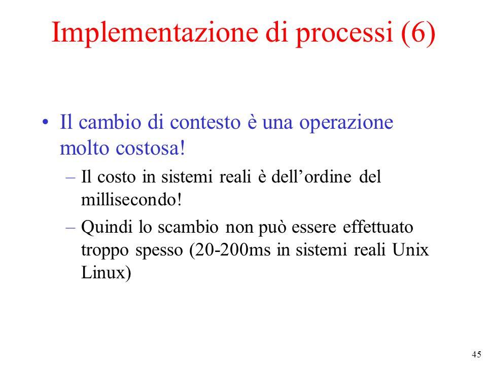 Implementazione di processi (6)