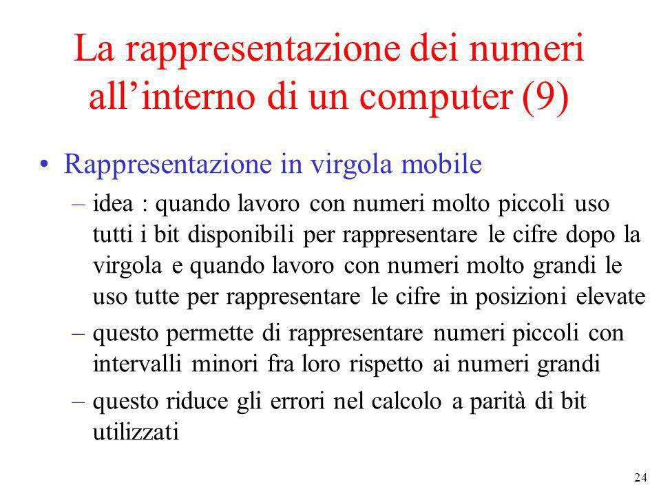 La rappresentazione dei numeri all'interno di un computer (9)