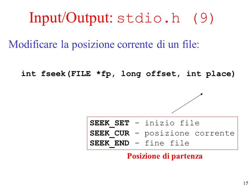 Input/Output: stdio.h (9)