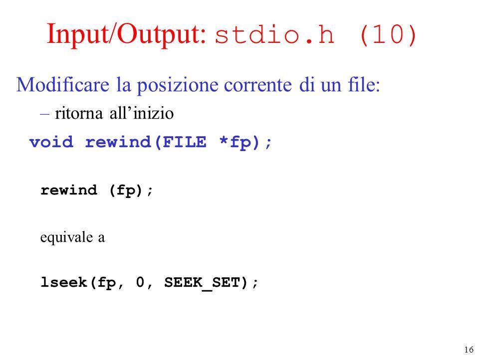 Input/Output: stdio.h (10)
