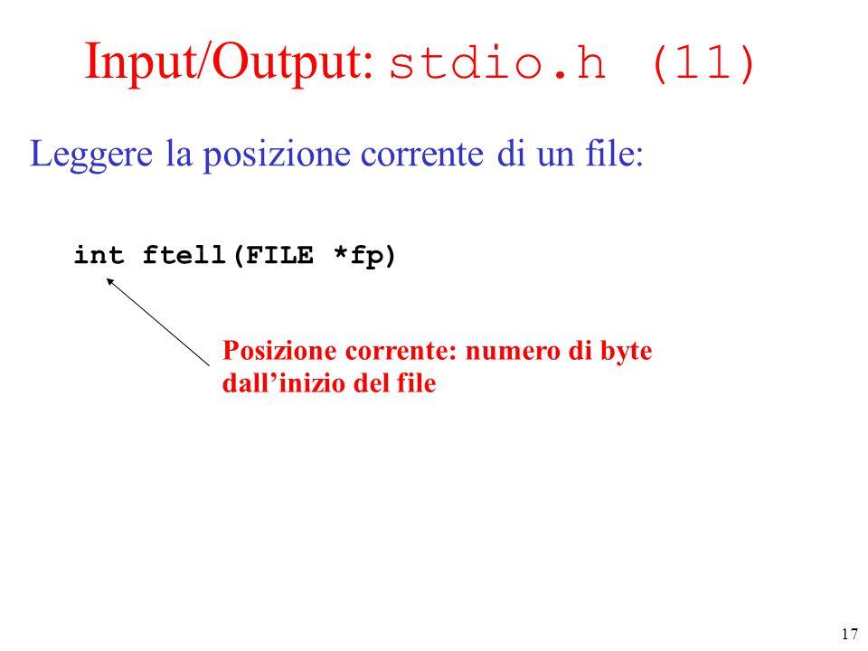 Input/Output: stdio.h (11)
