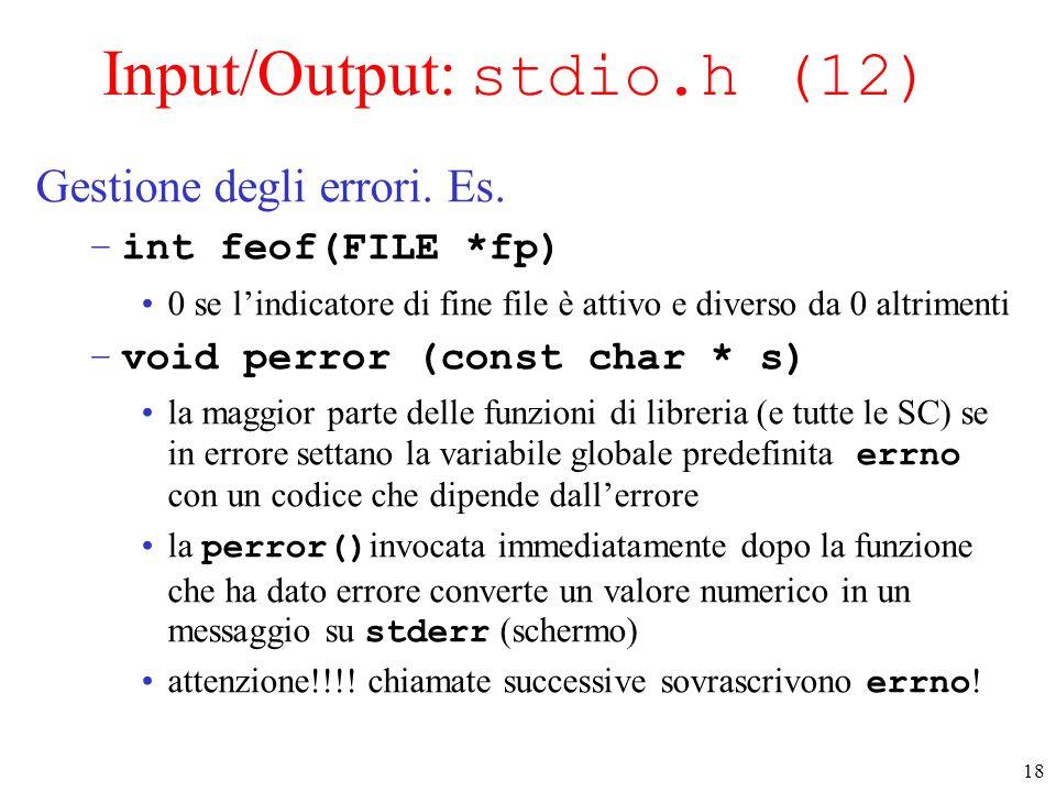 Input/Output: stdio.h (12)