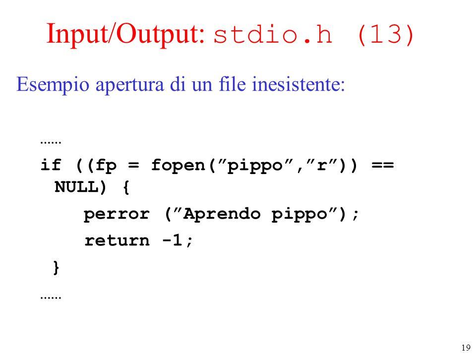 Input/Output: stdio.h (13)