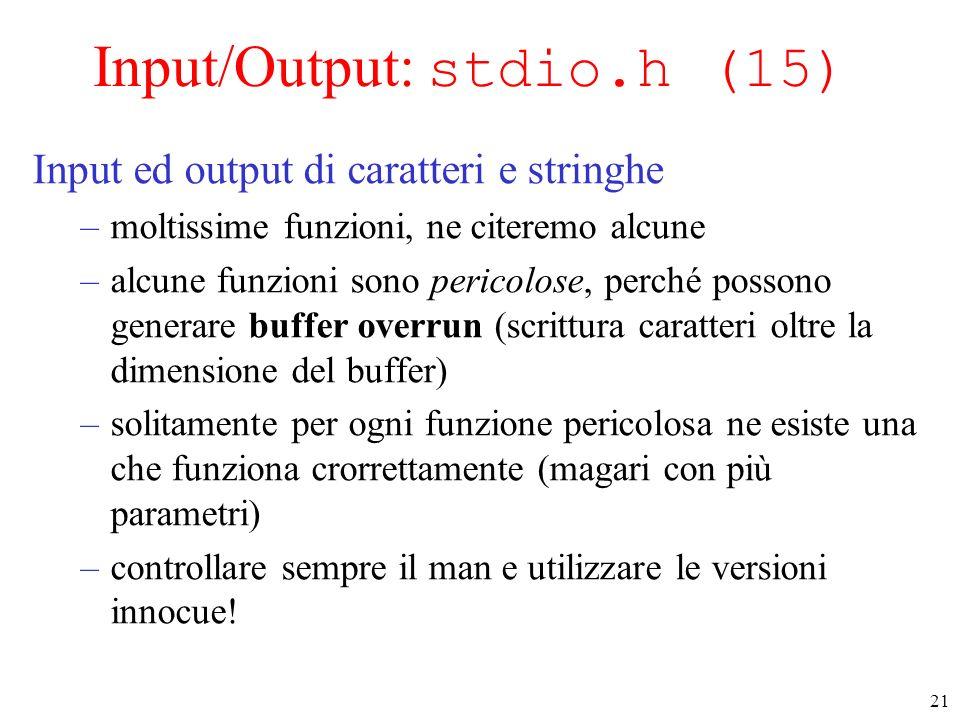 Input/Output: stdio.h (15)