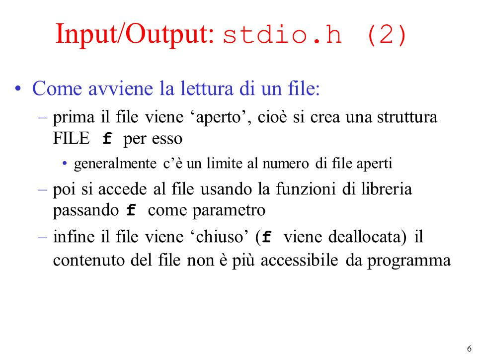 Input/Output: stdio.h (2)