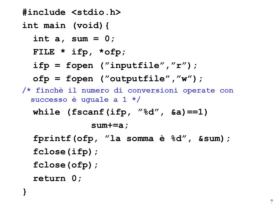 #include <stdio.h> int main (void){ int a, sum = 0;