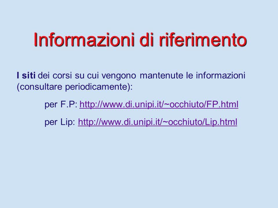 Informazioni di riferimento