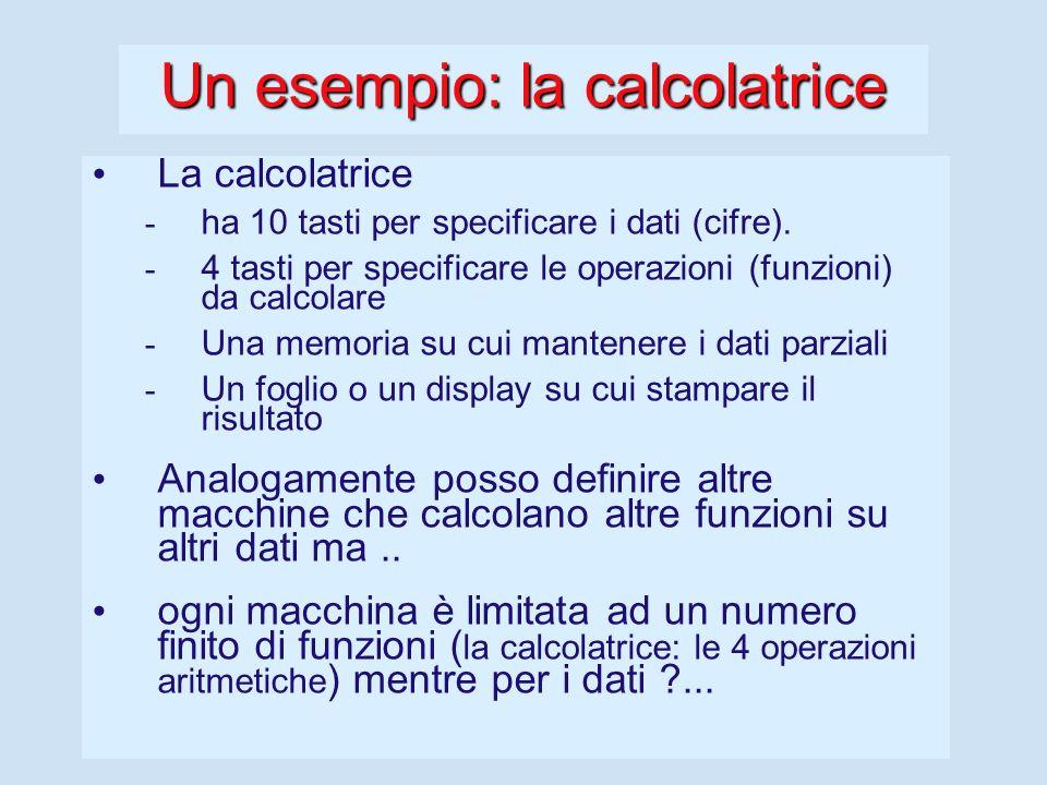 Un esempio: la calcolatrice