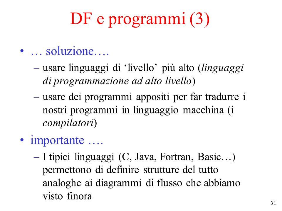 DF e programmi (3) … soluzione…. importante ….