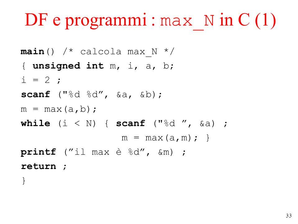 DF e programmi : max_N in C (1)