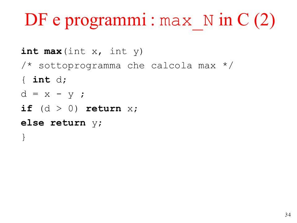 DF e programmi : max_N in C (2)