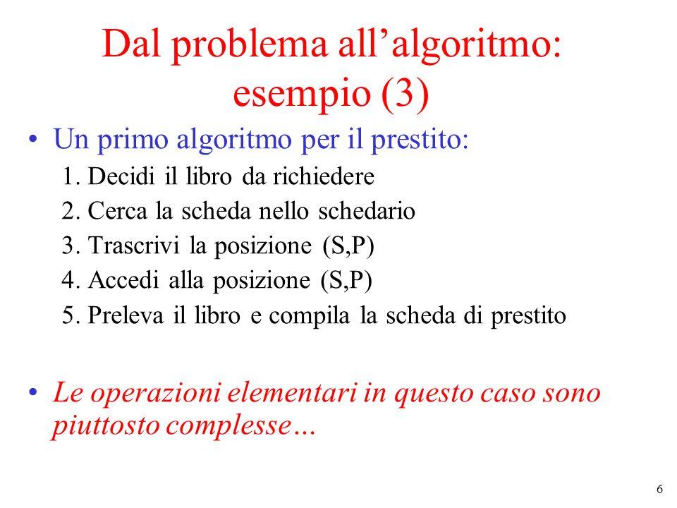 Dal problema all'algoritmo: esempio (3)