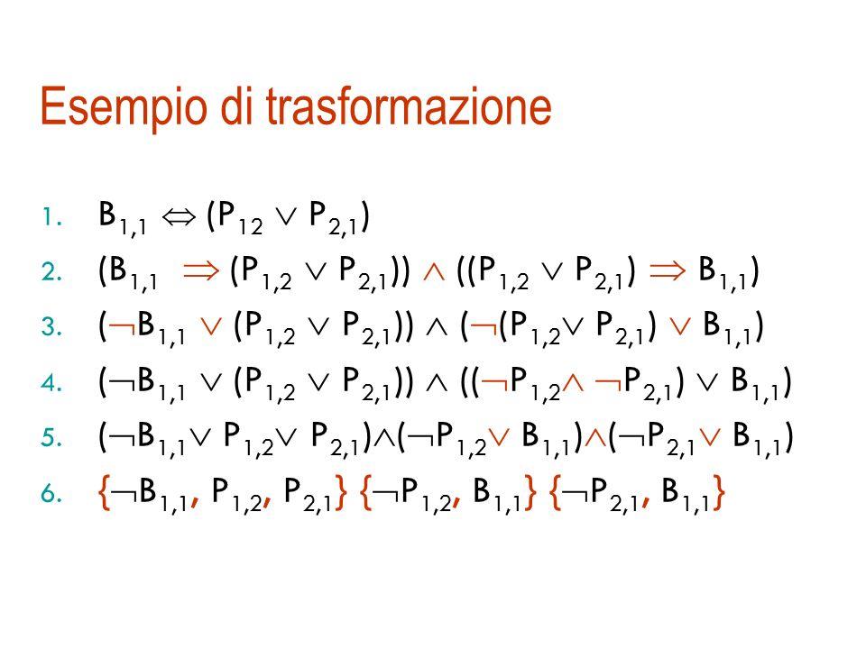 Esempio di TT-Entails (A  B)  (A  C) |= (B  C)