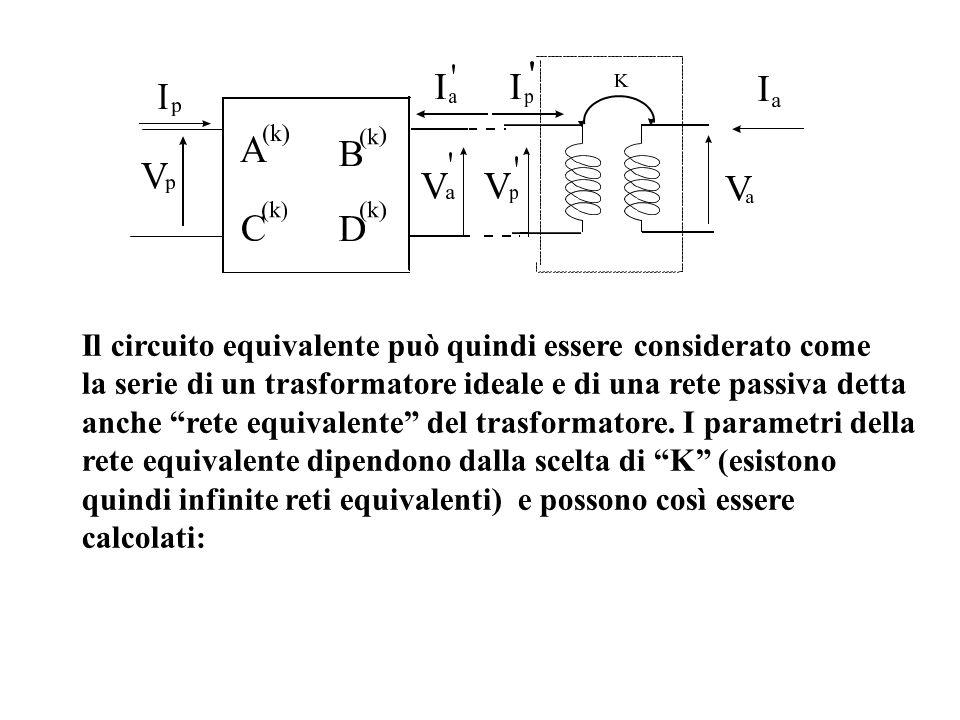 Il circuito equivalente può quindi essere considerato come