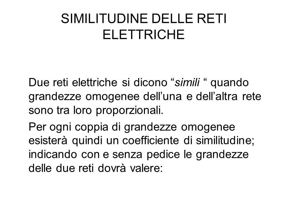 SIMILITUDINE DELLE RETI ELETTRICHE