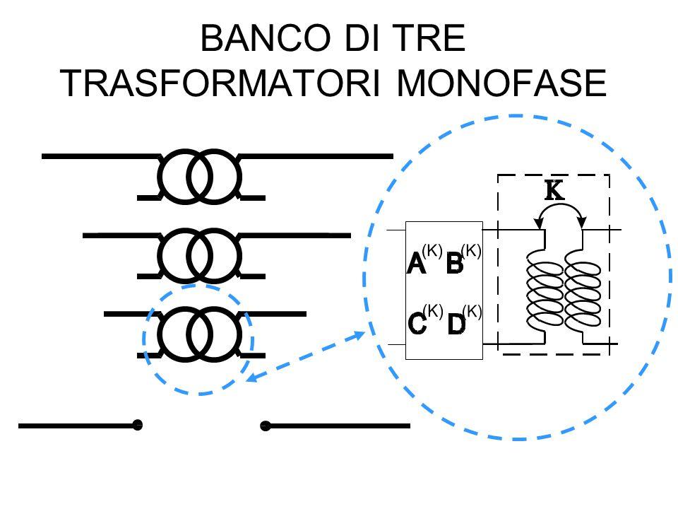 BANCO DI TRE TRASFORMATORI MONOFASE