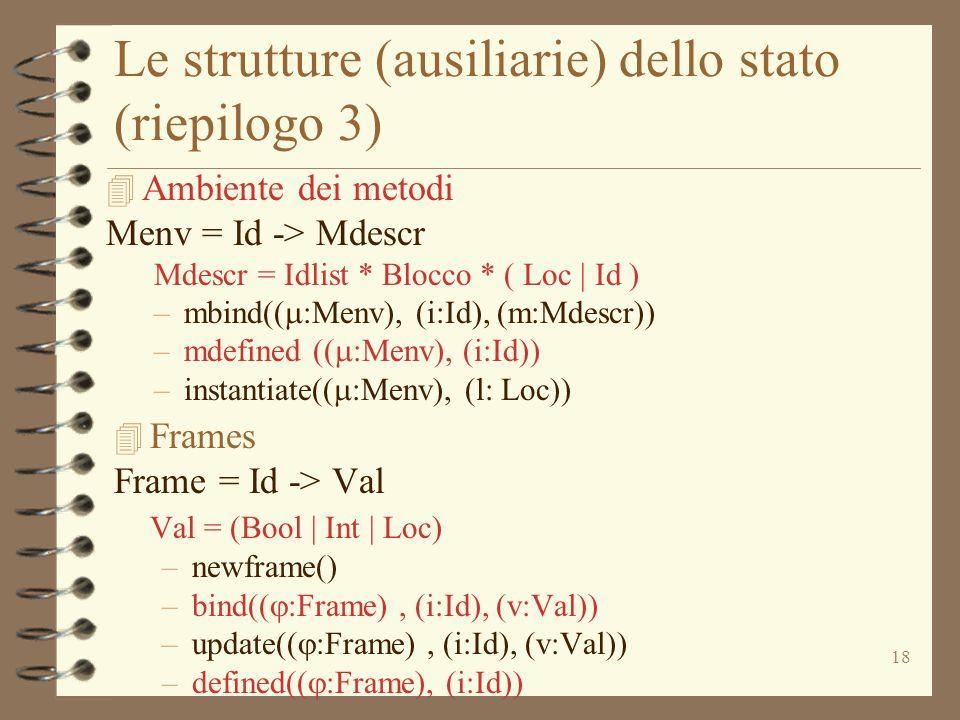 Le strutture (ausiliarie) dello stato (riepilogo 3)
