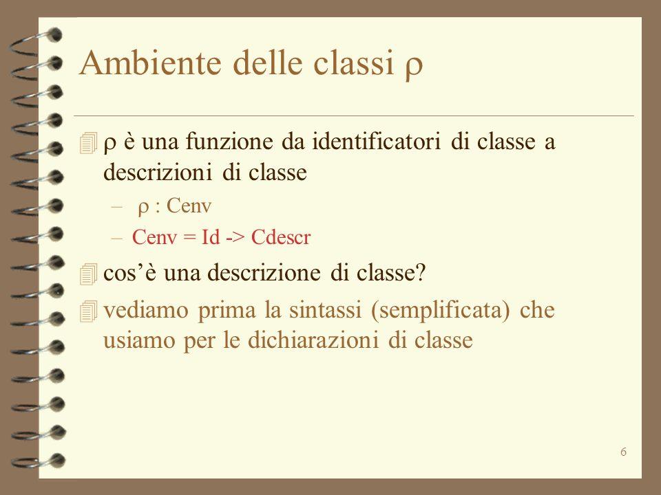 Ambiente delle classi r