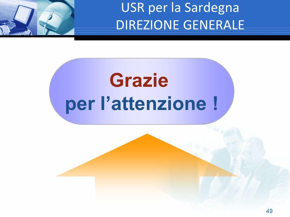 USR per la Sardegna DIREZIONE GENERALE