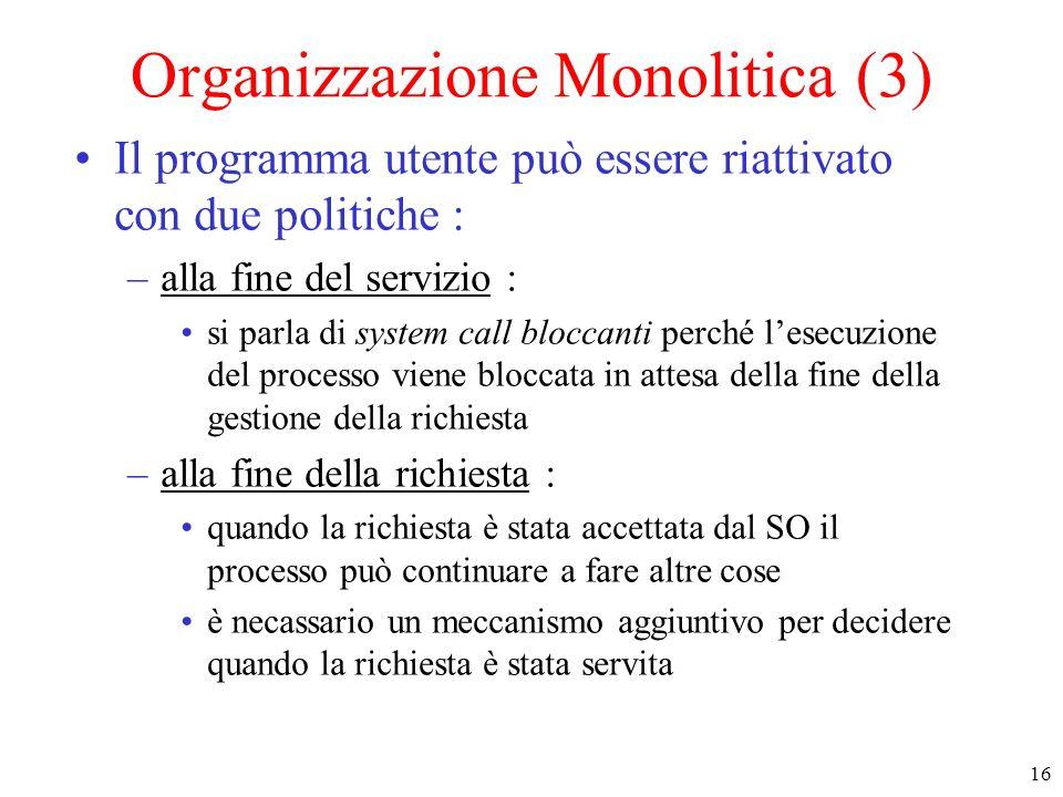 Organizzazione Monolitica (3)