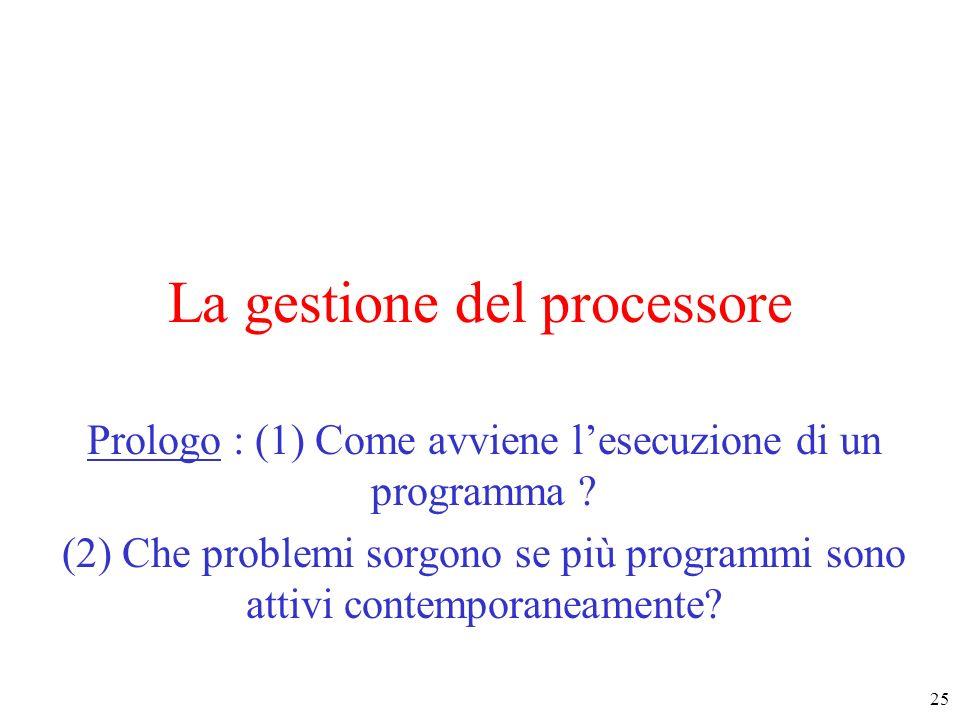 La gestione del processore