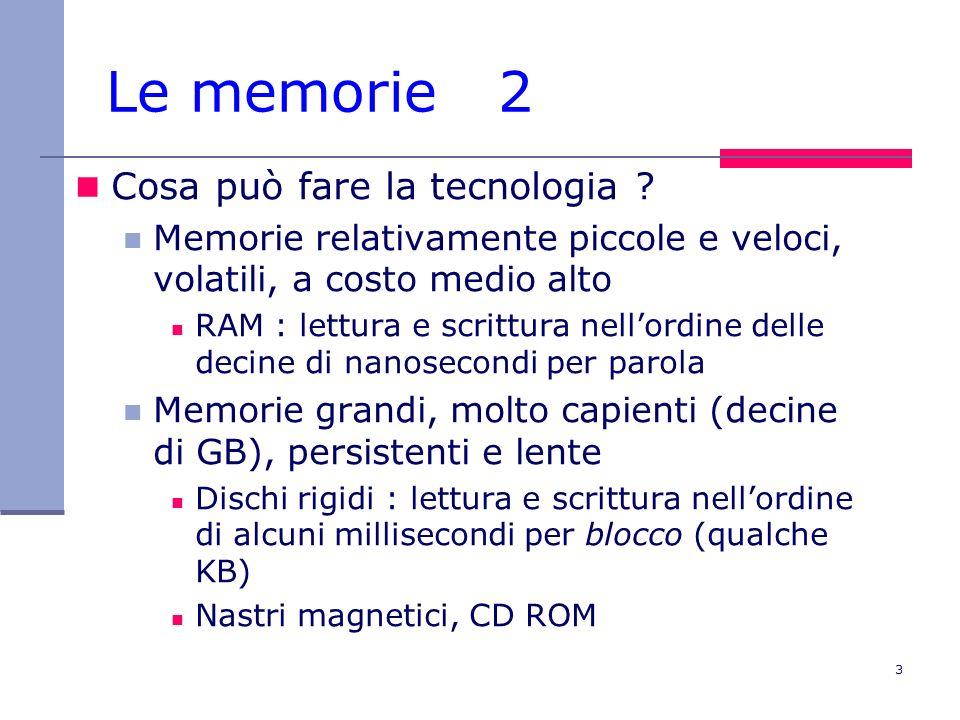 Le memorie 2 Cosa può fare la tecnologia