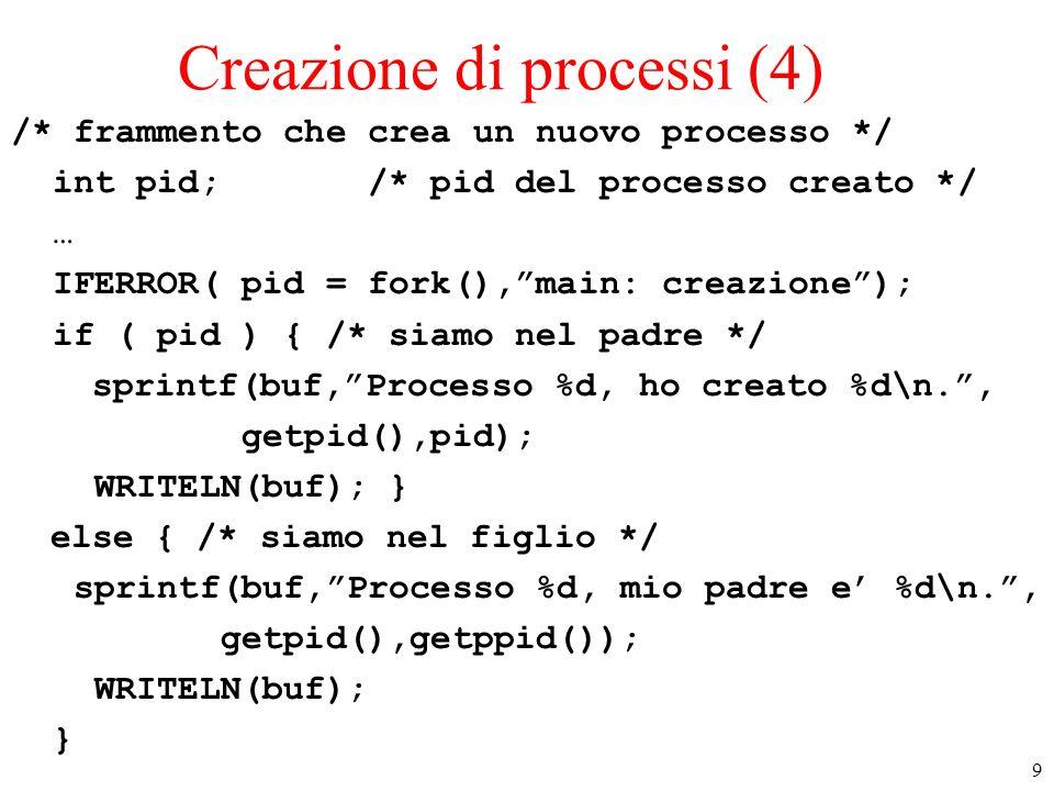 Creazione di processi (4)