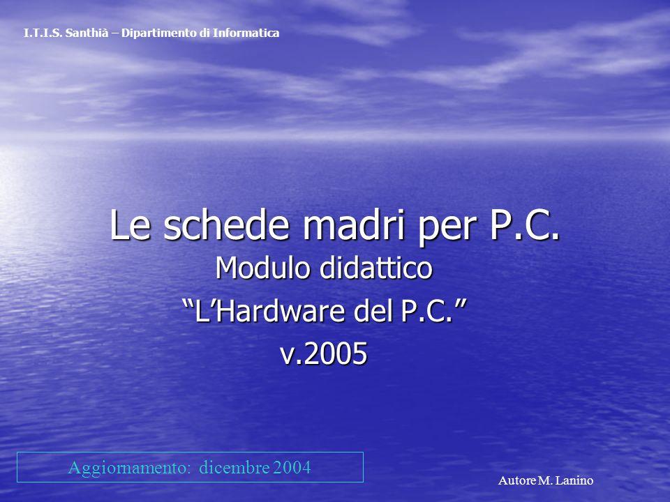 Modulo didattico L'Hardware del P.C. v.2005