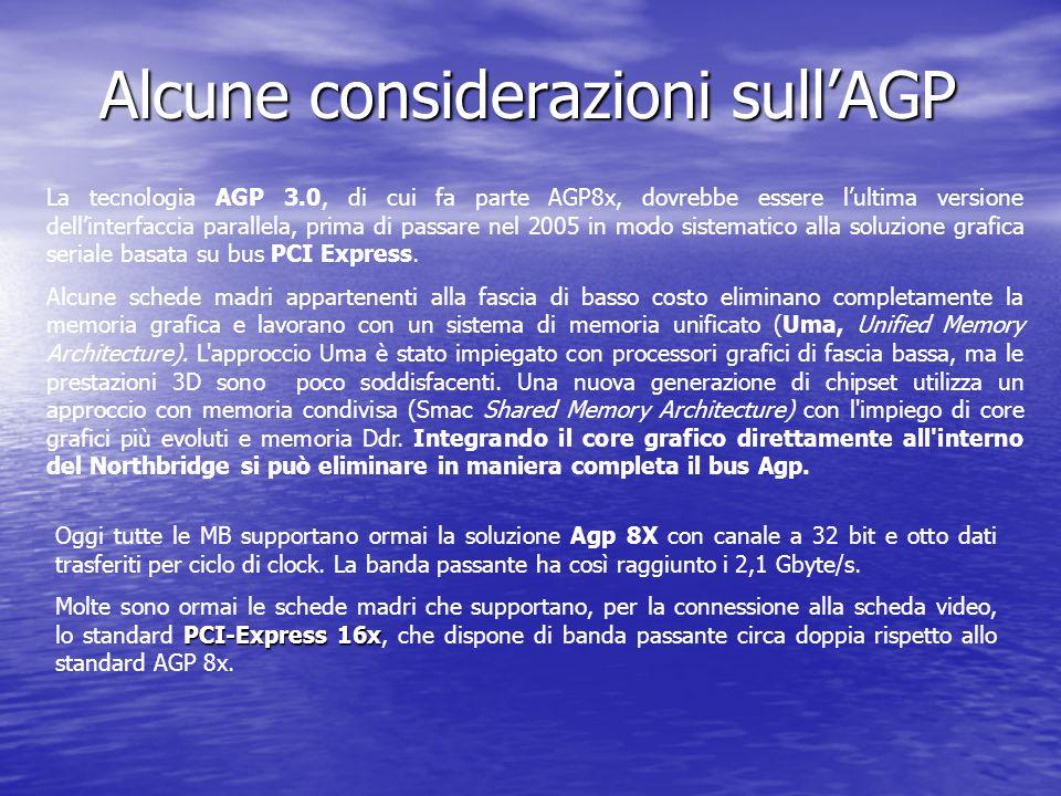 Alcune considerazioni sull'AGP