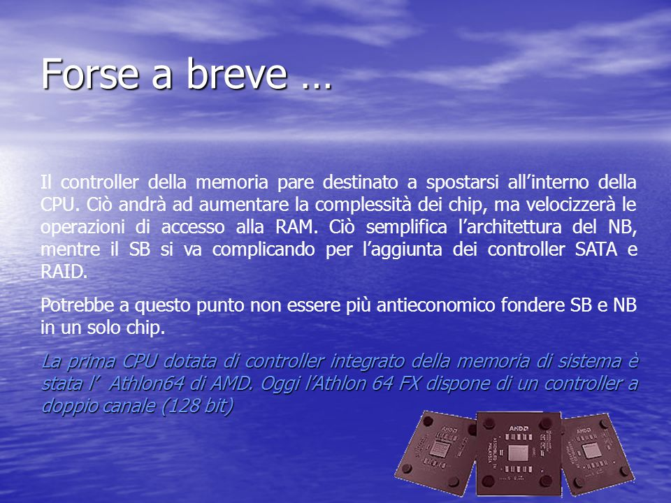 Forse a breve …